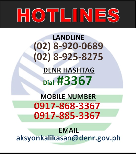 DENR Hotline as of Jan2020