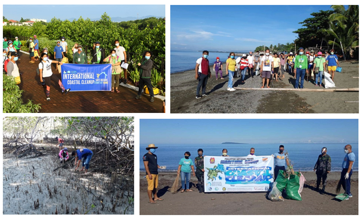 DENR 6 initiated coastal clean –ups to relieve aftermaths this typhoon season